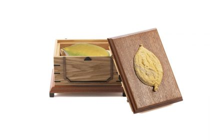 קופסה מלבנית לאתרוג +גילוף 542 HB