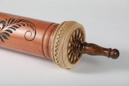בית מגילה מהודר משולב צמיד כסף גילוף וצריבה בלייזר 545
